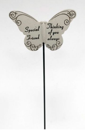 Special FRIEND Butterfly Sentimental Memorial Grave Stick DF13264Q
